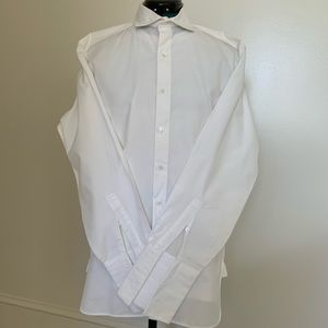 Men's Perry Ellis White 2-Ply Broadcloth Shirt